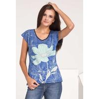 Monnari T-shirt z kolorowym kwiatem TSHIMP0-16J-TSH4550-KM13D004-R0S