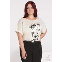 Monnari T-shirt w połyskujące plamki II BLUIMP0-16Z-BLU4411-KM23D004-R48