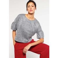 Vila VISHEIK Sweter medium grey melange V1021D0DT