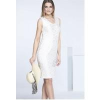 Monnari Kobieca sukienka bez rękawów SUKPOL0-16L-DRE1800-KM00D601-R36