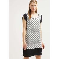 Sisley Sukienka letnia black/white 7SI21C05C