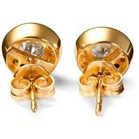 Tchibo Złote kolczyki sztyfty z cyrkonią*, złoto próby 585 400095717
