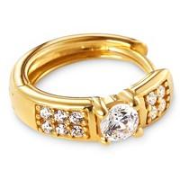 Tchibo Złote kolczyki kreole z cyrkoniami 400079431