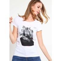 Q/S designed by T-shirt z nadrukiem white QS121D0EL