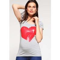 Queen Mum IRIS T-shirt z nadrukiem grey melee QM129G010