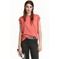 H&M Długi T-shirt 0240670032 Terakotowy róż
