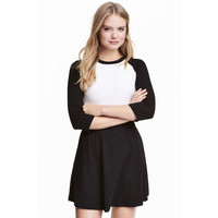 H&M Bluza bejsbolowa 0375849014 Biały/Czarny