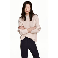 H&M Sweter 0461368006 Jasnobeżowy
