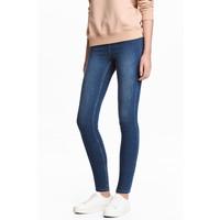 H&M Dżinsowe legginsy 0410082004 Niebieski denim