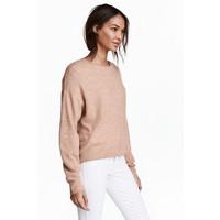 H&M Sweter oversize 0448193005 Beżowy melanż