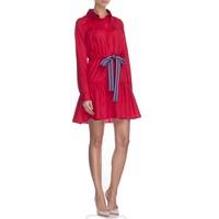 Thecadess Sukienka koszulowa z marszczeniem czerwona