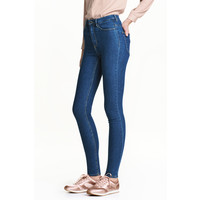 H&M Super Skinny High Jeans 0298273036 Niebieski denim