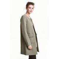 H&M Krótki płaszcz 0434778002 Zieleń khaki