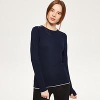 Reserved Sweter z kontrastową lamówką QG905-59X