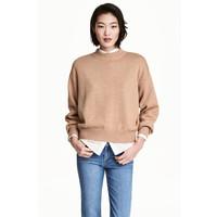 H&M Sweter 0447112006 Beżowy melanż