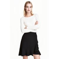 H&M Dopasowany sweter 0461749007 Biały