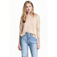 H&M Cienki sweter 0479555011 Jasnobeżowy