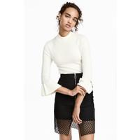 H&M Cienki sweter 0459710002 Biały