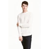 H&M Sweter w strukturalny splot 0438866001 Biały