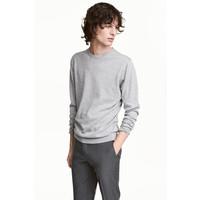 H&M Sweter z bawełny premium 0443638001 Szary melanż