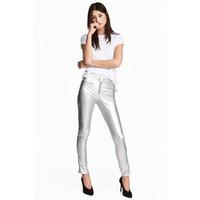 H&M Spodnie motocyklowe 0483606001 Srebrny