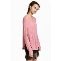 H&M Cienki sweter 0358547001 Różowy