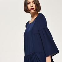 Reserved Sukienka z falbaną QK329-59X