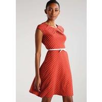 Anna Field Sukienka z dżerseju red/white AN621CA4E