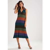 Sisley Długa sukienka green/purple 7SI21C069