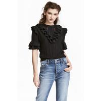 H&M Sweter w strukturalny wzór 0476622004 Ciemnoszary