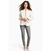H&M Spodnie superstretch 0434429016 Szary denim