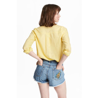 H&M Bawełniana koszula 0463285023 Żółty
