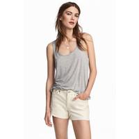 H&M Dżersejowa koszulka 0546810005 Szary melanż