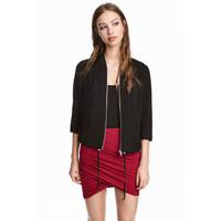 H&M Drapowana spódnica 0327310011 Czerwony