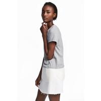 H&M Top z krótkim rękawem 0529930003 Szary melanż