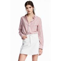 H&M Bawełniana koszula 0510043007 Czerwony/Paski