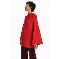 H&M Sweter z domieszką moheru 0576711001 Czerwony