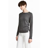 H&M Sweter z domieszką wełny 0515221002 Ciemnoszary