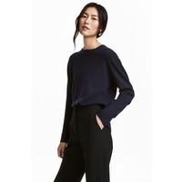 H&M Kaszmirowy sweter 0508812003 Ciemnoniebieski