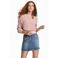 H&M Sweter 0425639003 Pudroworóżowy