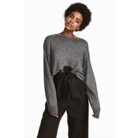 H&M Cienki sweter 0519749008 Szary/Brokat