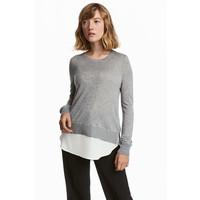 H&M Cienki sweter 0515243001 Szary melanż