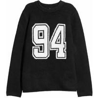 H&M Sweter 0543052004 Czarny