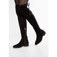 Topshop DOLLAR HIGH LEG Muszkieterki black TP711A03E