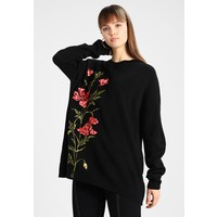 Topshop SUPERSIZE JUMPER Sweter black TP721I0EY