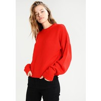 Topshop PLEAT SLV DETAIL Sweter red TP721I0DI