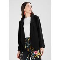 Dorothy Perkins SHAWL COLLAR Krótki płaszcz black DP521G05O