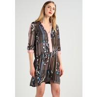 Sisley DRESS Sukienka letnia beige/light blue 7SI21C071