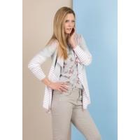 Monnari Prążkowany sweter z wolnymi połami SWEIMP0-18W-SWE0860-KM00D100-R0S