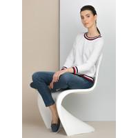 Monnari Sweter z trójbarwną lamówką SWEIMP0-18W-SWE0370-KM00D000-R0S